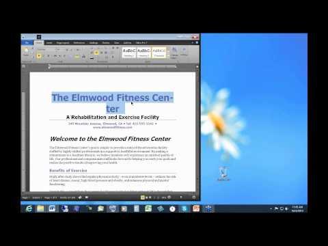 April 23, 2013 Microsoft Word 2010