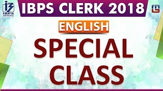 Special Class | IBPS Clerk 2018 | English | 1:00 pm In this video t...