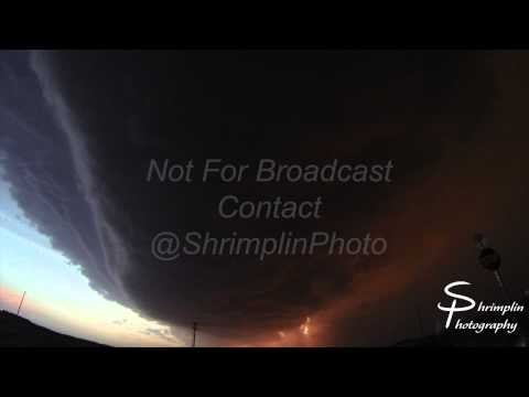 Super Cell in Garden City, KS area - June 3rd 2014