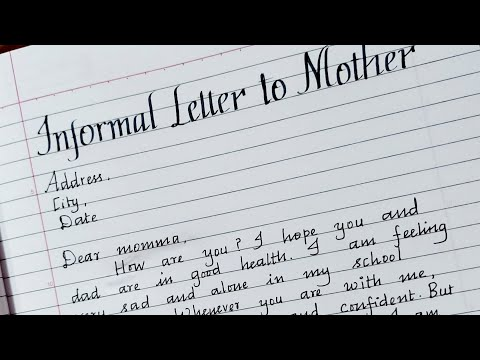Write an Informal letter to your mother/Informal letter writing in English/Master handwriting