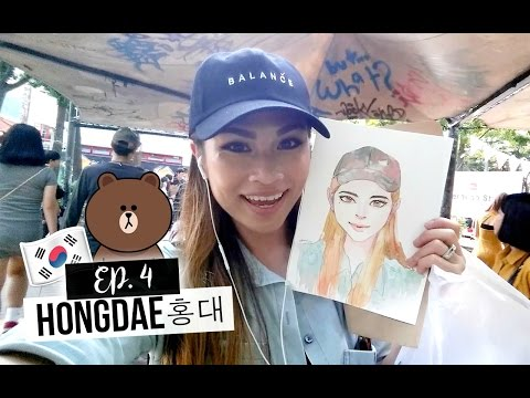 KOREA DIARY Ep. 4: 홍대 Hongdae Street (Hongik University Street) Hongdae Playground & Line Friends!