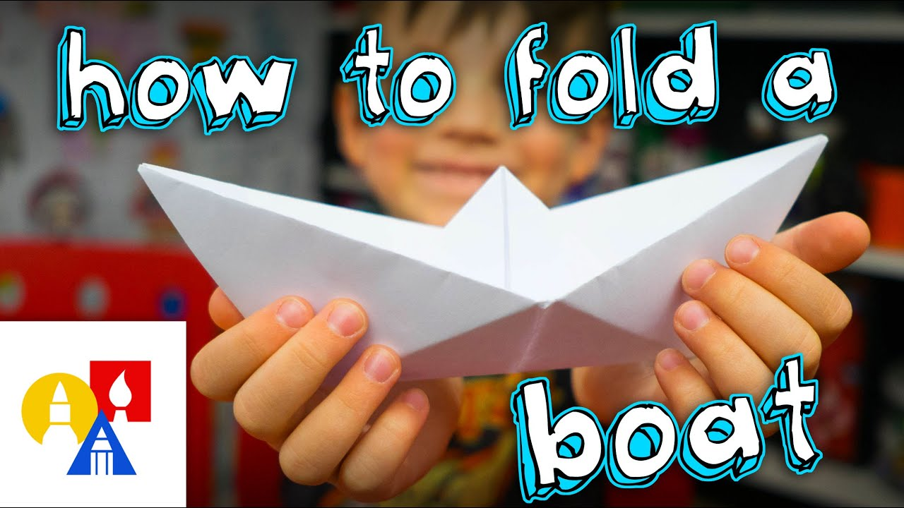 how to fold a simple origami boat sya youtube