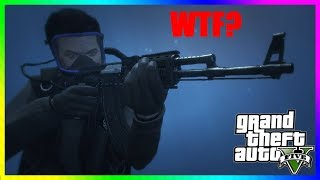 GTA 5 Online - How to Stand and Shoot Underwater