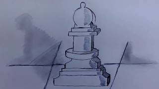 HOW TO DRAW CHESS PIECE (BISHOP)