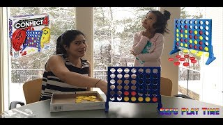 Sefu and Mommy Play CONNECT4 Games for Family Fun Games!