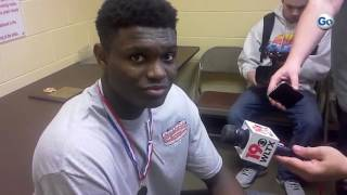 Spartanburg Day junior Zion Williamson talks about repeating as SCISA 2A state champion, as well as
