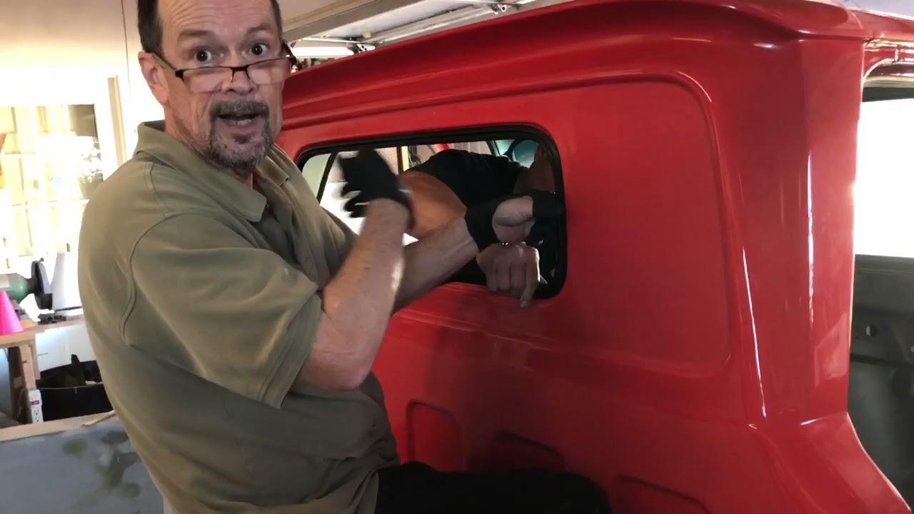 Back Glass Installation 1966 Chevy Truck Resto Youtube