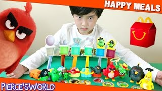 The Angry Birds Movie Happy Meal Toys 2016 | Toys for Kids - Pierce'sWorld