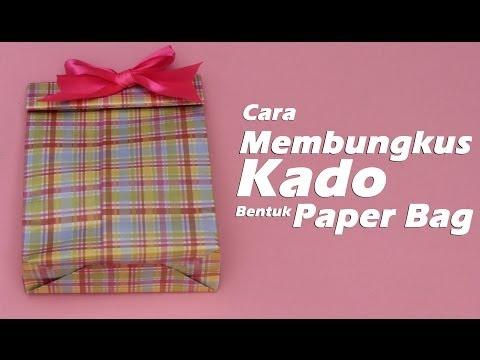 Yuk mari bikin paper bag sendiri dari kertas kado. Murah meriah dan mudah..