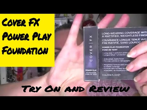 Cover FX Power Play Foundation ~ Try-On and Review~ Over 50 Beauty!