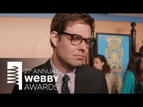 David-Michel Davies on the Red Carpet at the 21st Annual Webby Awards