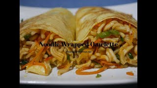 Noodles Wrapped Omelettes (Simple meals)