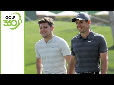 Niall Horan plays with Rory McIlroy at Dubai Desert Classic Pro-Am