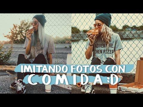 IMITANDO FOTOS TUMBLR CON COMIDA