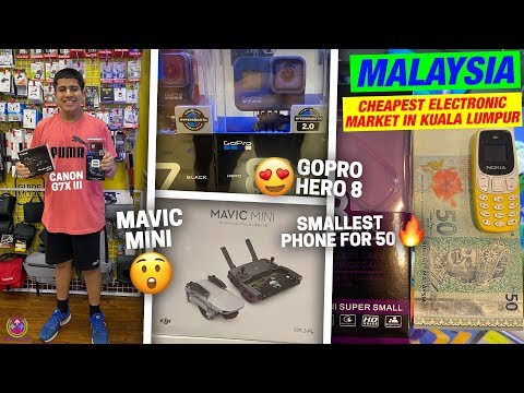 MALAYSIA CHEAPEST ELECTRONICS MARKET 2020 | My New Drone and Phone | 😍😍😍