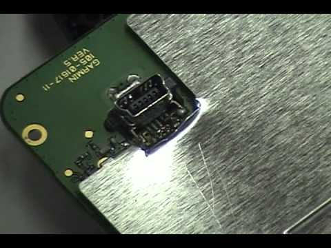 Garmin nuvi 1490 USB Repair How to solder the port YouTube