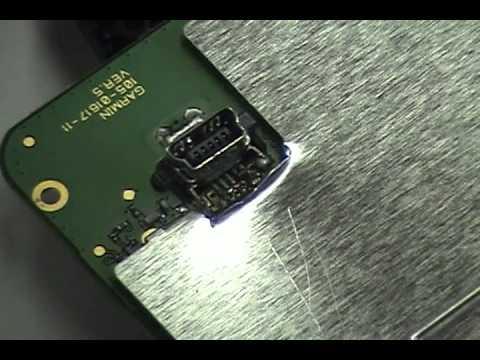 Garmin nuvi 1490 USB Repair How to solder the port  YouTube
