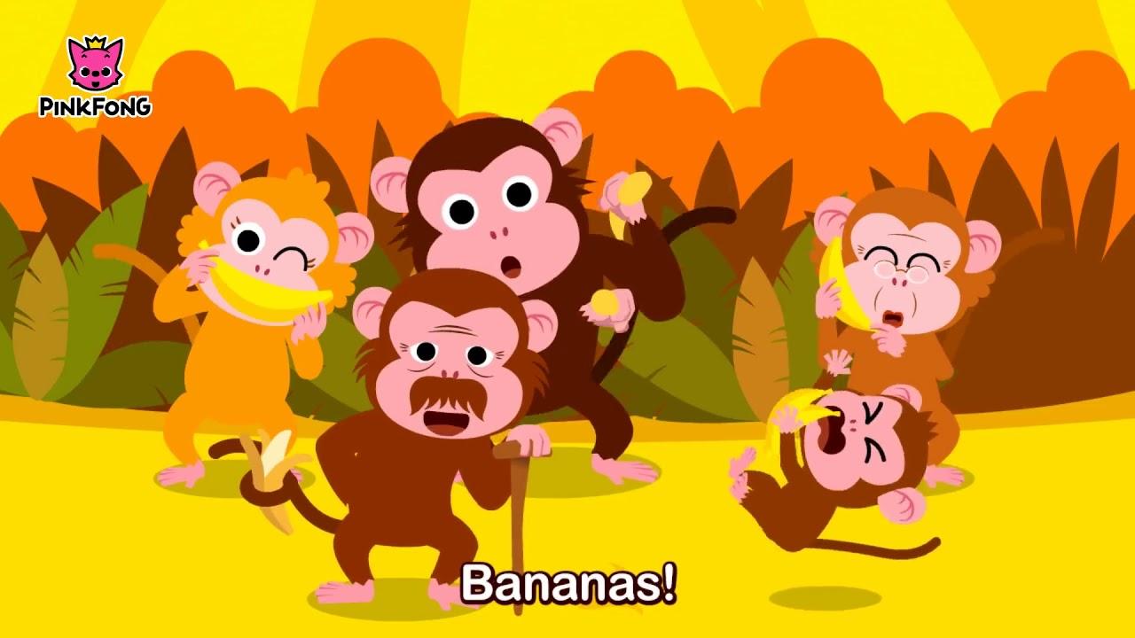 Monkey Bananas Animal Songs PINKFONG Children Dj SoiieyChristopher