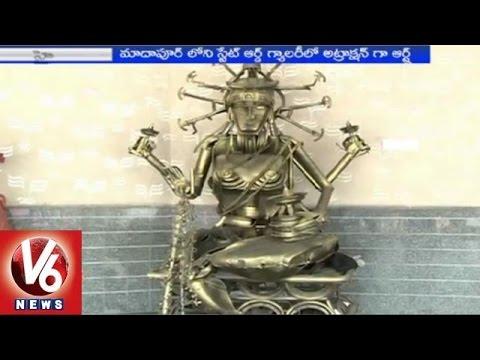 Scrap Metal Sculptures at Madhapur state Art Gallery (16-03-2015)