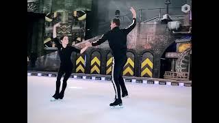 Александр Энберт и Евгения Медведева раскатки перед спектаклем