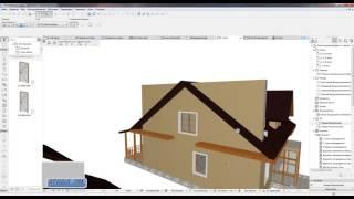 aRCHICAD  project home lessons 26.( Изменения от заказчика  2. Крыша)