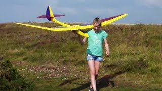 Bird of Time in lovely smooth conditions. RC Gliding.