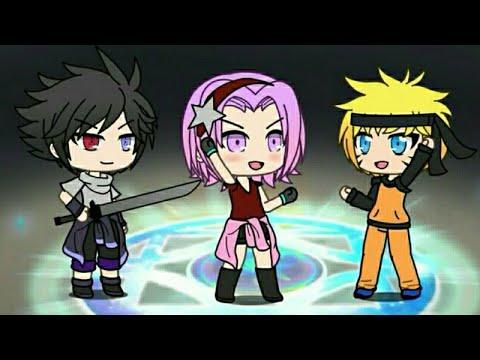 Membuat Skin Naruto,sasuke,dan Sakura Di Gacha Life