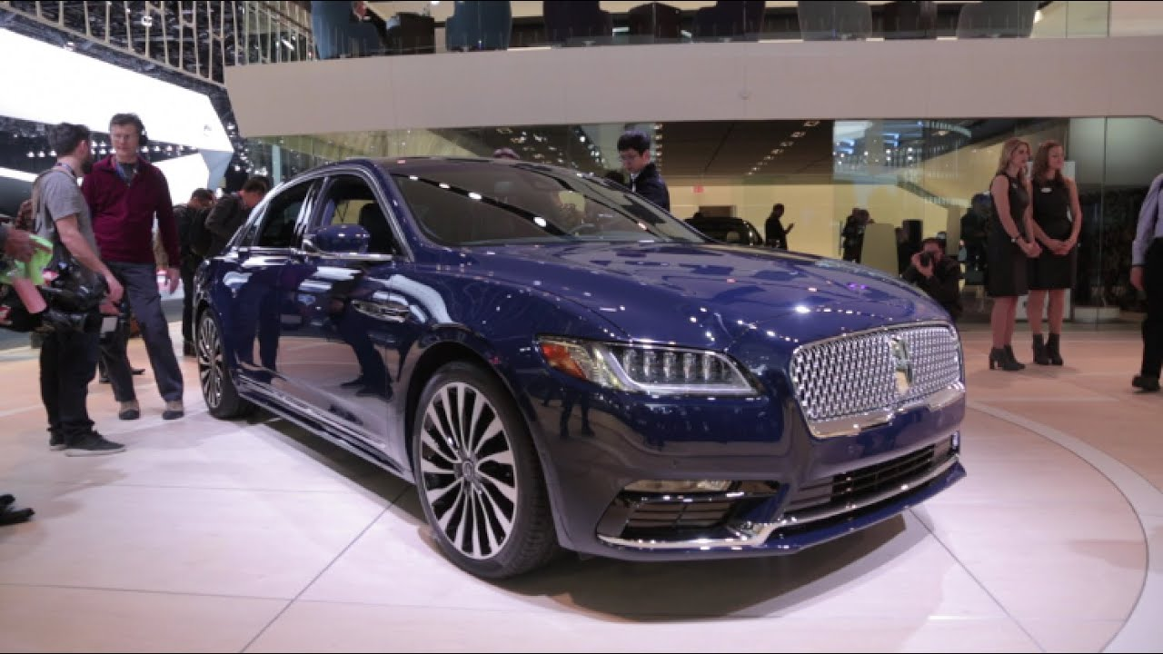 Lincoln Continental Detroit Auto Show YouTube - Lincoln car show