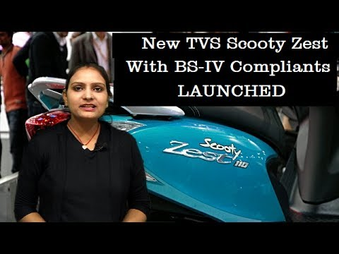 New TVS Scooty Zest 110 with BS IV Compliant Engine Launched | Specs Review | Hindi