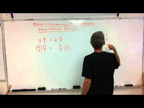 7th Grade: Add/Subtract Mixed Numbers./ Multiplying Fractions 9/4/13