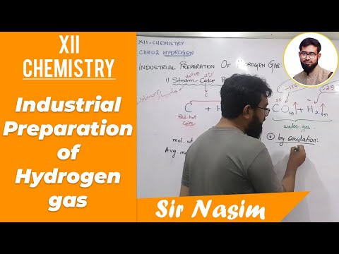 Industrial Preparation Of Hydrogen Gas [XII - Chemistry]