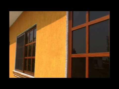 Ventanas de aluminio acabado madera youtube for Ventanas de aluminio con marco de madera