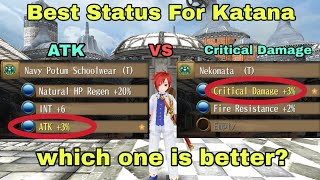 Toram Online - ATK VS Critical Damage (For Katana), Which One is Better?