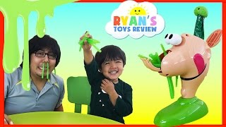 GOOEY LOUIE Board Game for kids with Ryan ToysReview!