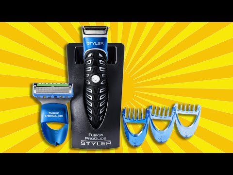 Gillette Fusion ProGlide Styler 3 in 1 REVIEW and EXAMPLE of USAGE