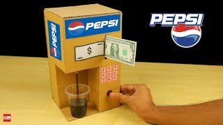 How to Make Pepsi Fountain Machine from Cardboard at Home