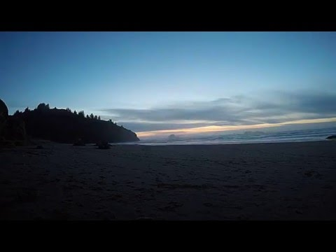 Time lapse of Sunset at Trinidad State Beach, California