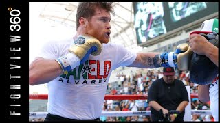 CANELO MUCH LIGHTER? FASTER? CANELO MEDIA WORKOUT 8/26 LA! CANELO VS GGG 2 PREVIEW! HBO PPV 9/15!