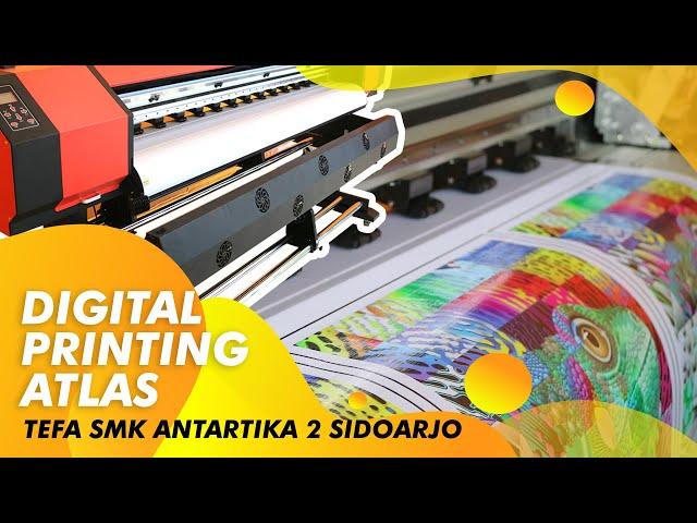 Cara Intalasi dan Training Mesin Digital Printing ATLAS XPe 1800 di SMK Sidoarjo