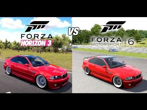 forza horizon 3 vs forza 6 comparison which is better