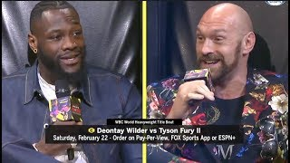 DEONTAY WILDER v TYSON FURY (FULL & UNCUT) SECOND REMATCH PRESS CONFERENCE FROM LA / FEB 22nd