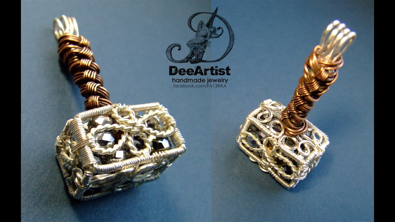 Wire Wrapped Mjolnir Pendant by DeeArtist, 2016. - YouTube
