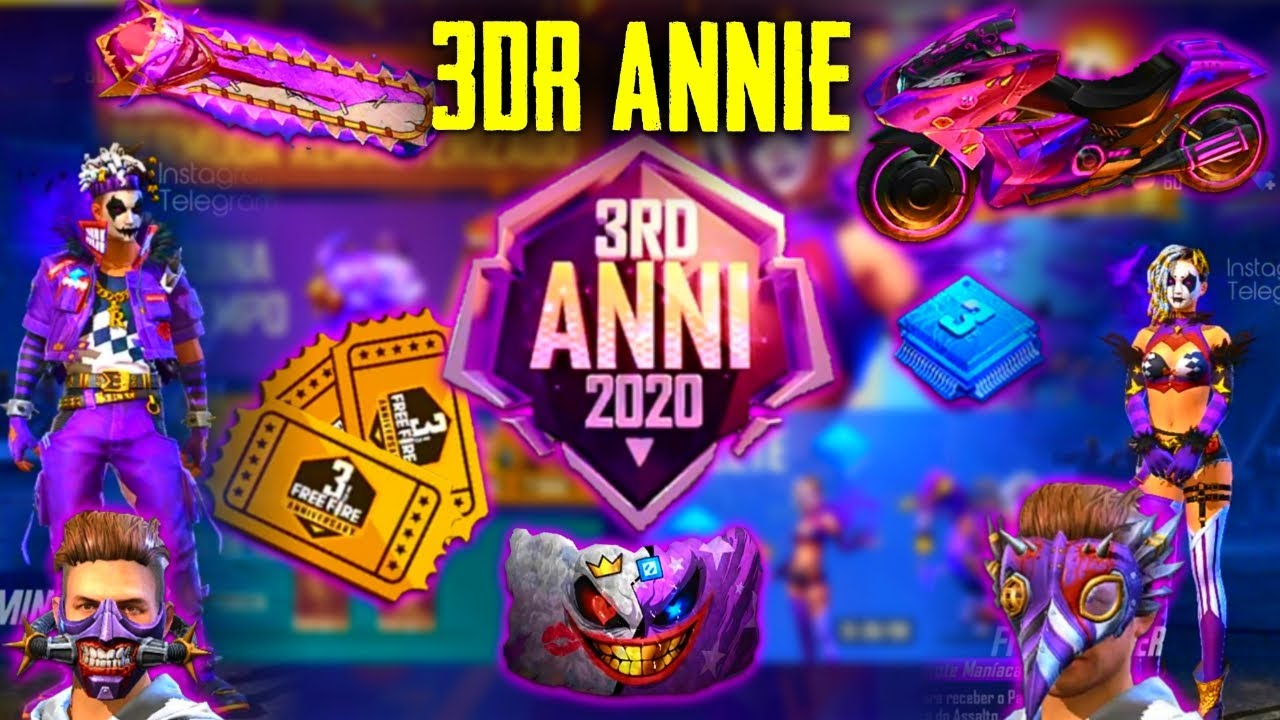 New Updates🔥 Free Items 3RD Anniversary Event Spacial | Free Magic Cube, Mask, Backpack, Bundle
