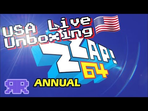 Live: 2019 Zzap! 64 Annual - USA Unboxing (cover spoiler at end)