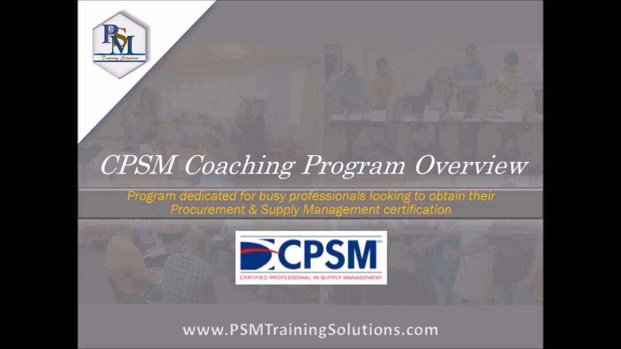 Ism Cpsm Exam Prep Program Youtube