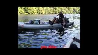 Barrage de Lanau en Kayak Oasis et outback,  en Vidéo sur Google / youtube.