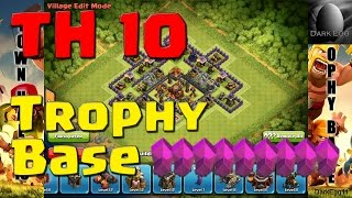 Clash of Clans: Town Hall 10 Trophy Base (25 wall update)