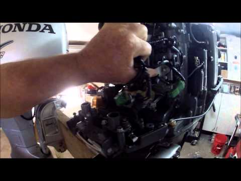 2006 HONDA 225 OUTBOARD, parts sale: 5/29/14 - YouTube