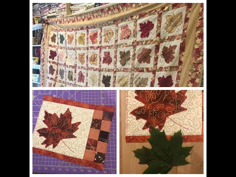 Applique Leaf Mug Rug/Placemat Tutorial plus a  Leaf Quilt Story!:)