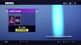 Fortnite Item Shop 12th August 2018 *Aerobic Assassin and Back Plate Skin*